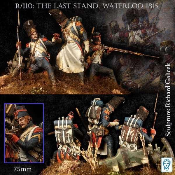 Le dernier carré, Waterloo 1815 Alexandros Models, figurines75mm.