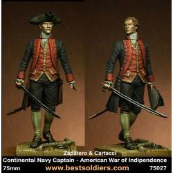 Figurine de capitaine de marine US Bestsoldiers 75mm.