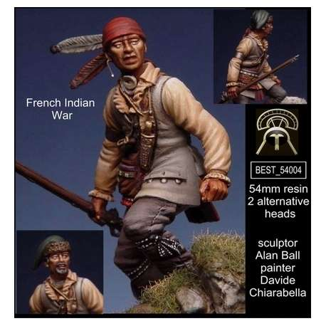 Figurine des guerres franco indienne 54mm Bestsoldiers.