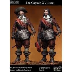 Figurine de capitaine du XVIIème siècle 75mm Bestsoldiers.