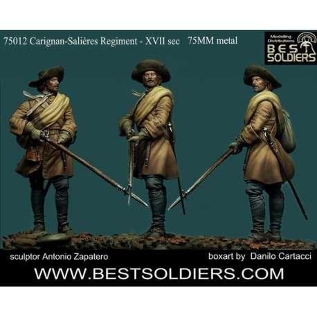 Figurine 75mm du régiment de Carignan-Salières Bestsoldiers.