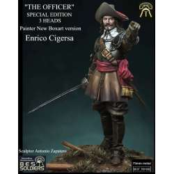 Figurine 75mm d'officier en 1600 Bestsoldiers.