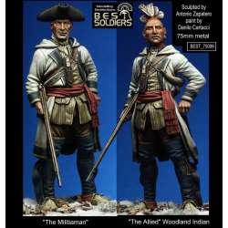 Figurine 75mm de la guerre d'indépendance Américaine Bestsoldiers.