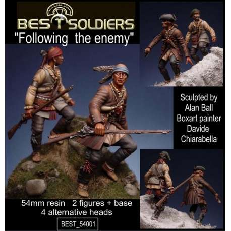 Figurines 54mm guerre Franco-Indienne Bestsoldiers.