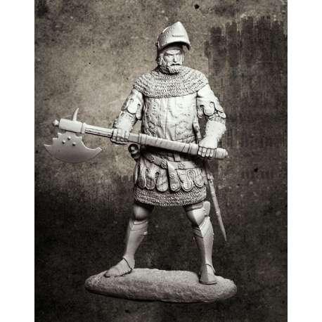 Figurine Pegaso 75mm chevalier du XIVème siècle.