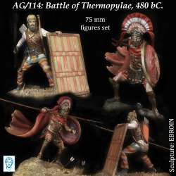 Figurines Alexandros 75mm, bataille des thermopyles 480avant JC.