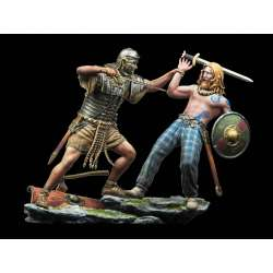 Figurines 75mm, combat Romain/Pictes Andrea Miniatures.