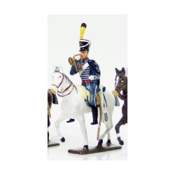 Figurine CBG Mignot trompette du 1er régiment de hussards (1808)