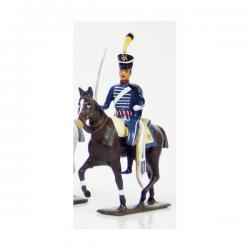 Figurine CBG Mignot cavalier du 1er régiment de hussards (1808)