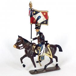 Soldat de plomb CBG Mignot étendard du 2e régiment de hussards (1808)
