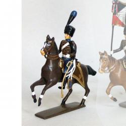 Figurine d' officier de la compagnie d'élite du 2e hussards (1808) CBG Mignot.