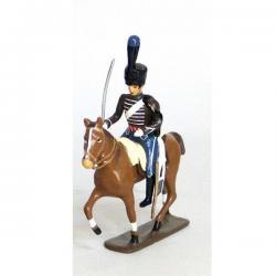 Figurine cavalier de la compagnie d'élite du 2e hussards (1808)