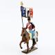 Figurine d'étendard du 12e régiment de hussards (1808) CBG Mignot.
