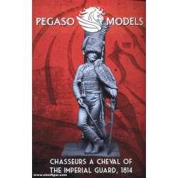 Figurine 75mm de chasseur à cheval de la garde Pegaso Models.