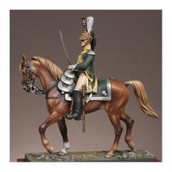 Figurine d'Officier du 19ème régiment de dragons 1809 Metal Modeles.