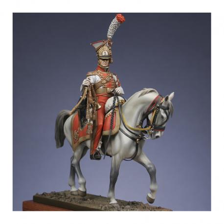 Figurine Metal Modeles, Trompette de lanciers rouges de la Garde1813.