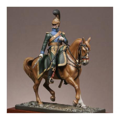 Figurine d'Officier du 5è Rgt. de Chevau-legers lanciers Metal Modeles.