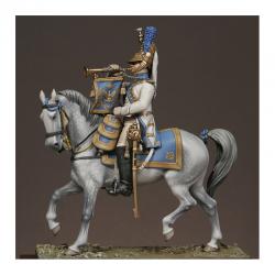 Figurine de Trompette des dragons de la Garde 54mm Métal Modeles.