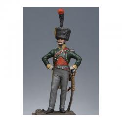 Figurine d'Officier de chasseurs à cheval 4ème rgt. 1809 Métal Modeles 54mm.
