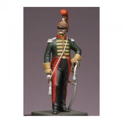 Figurine de Trompette du 6e rgt. de chevau-légers-lanciers 1814 Métal Modeles.