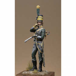 Figurine d'Off.6ème Rgt de chasseurs à cheval 1795 75 mm.