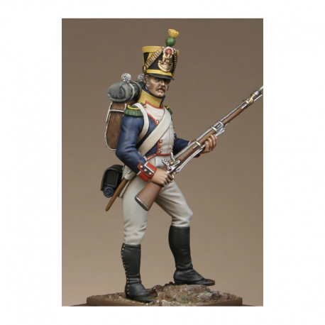 Figurine de Voltigeur d'infanterie de ligne réglement de 1812 Metal Modeles.