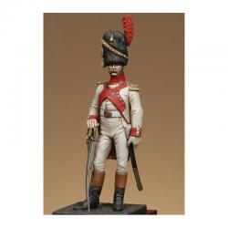 Figurine d'Officier de grenadiers hollandais de la garde 1812 Metal Modeles.