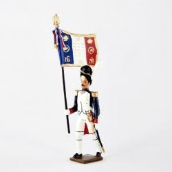 Figurine de porte-drapeau des grenadiers de la garde CBG Mignot.