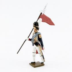 Figurine de 2ème Porte Aigle (Rouge) des grenadiers de la garde CBG Mignot.