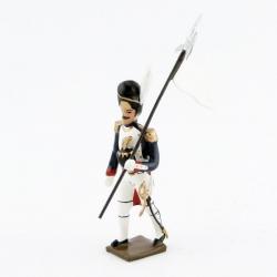 Figurine d'un 3ème Porte Aigle (Blanc) des grenadiers de la garde CBG Mignot.