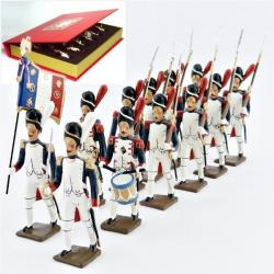 Figurines de  Grenadiers de la Garde, coffret de 12 figurines CBG Mignot.