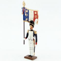 Figurine de drapeau des grenadiers de la garde au fixe CBG Mignot.