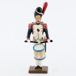 Figurine de tambour (d'ordonnance) des grenadiers de la garde au fixe CBG Mignot.