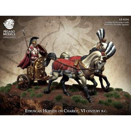Figurine d'Etrusque en' chariot du VI eme siècle 54mm Pegaso.
