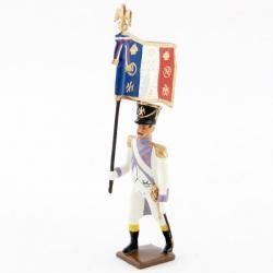 Figurine de drapeau des voltigeurs du 33ème de ligne (1806) CBG Mignot.