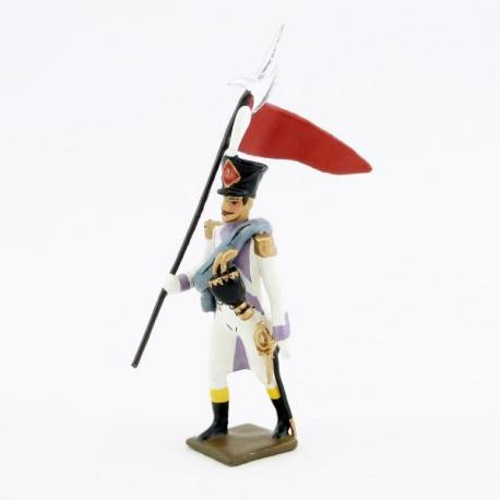 Figurine de 2e porte-aigle des voltigeurs du 33ème de ligne (1806) CBG Mignot.