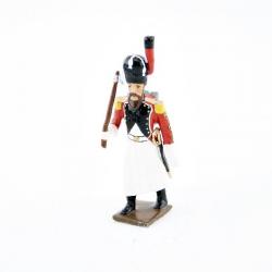 Figurine de sapeur du 3ème Régiment d'Infanterie de Ligne Suisse avec hache CBG Mignot.