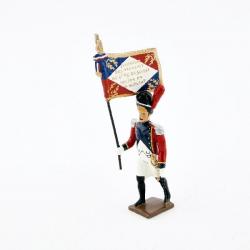 Figurine de drapeau des grenadiers du 4e régiment suisse (1812) CBG Mignot.