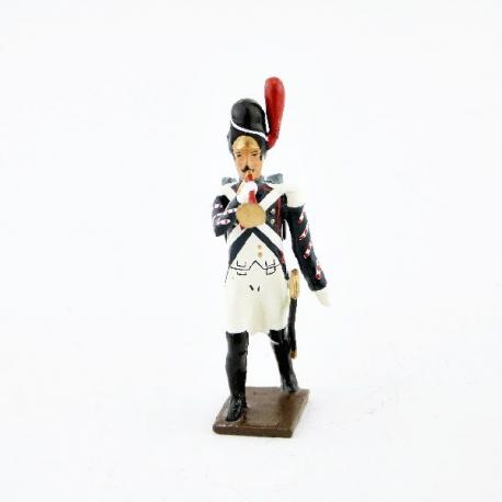 Figurine de clairon des grenadiers du 4e régiment suisse (1812) CBG Mignot.