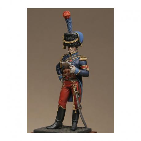 Figurine Metal Modeles d'Aide de camp attaché à une division de la garde.d'