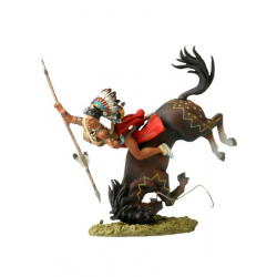 Figurine d'indien  Black Hawk,Andrea Miniatures 54mm Toy soldier ,Guerrier Sioux