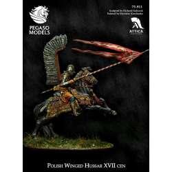 Figurine de hussard ailé polonais 75mm Pegaso Models.