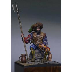 Figurine 90mm de lansquenet en résine Tartar Miniatures.