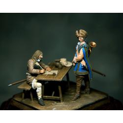 Lettre... Figurines du XVIIIeme siècle résine 54mm.