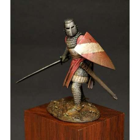 Figurine de chevalier du XIIIeme siècle 54mm résine.