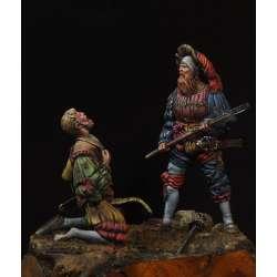 Figurines de lansquenets du XVIeme siècle 75mm.