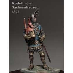 Figurine de chevalier du XIVeme siècle en résine 54mm.