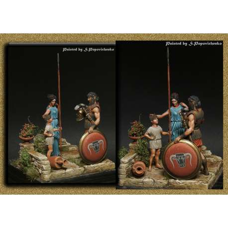 La Grèce Antique, Figurines en résine 54mm Tartar Miniatures.