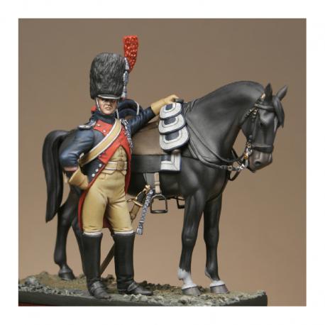 Figurine Metal Modeles de Gendarmerie d'élite de la garde maréchal des logis.