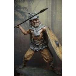 Figurine de guerrier Germain le loup gris en 75mm résine.